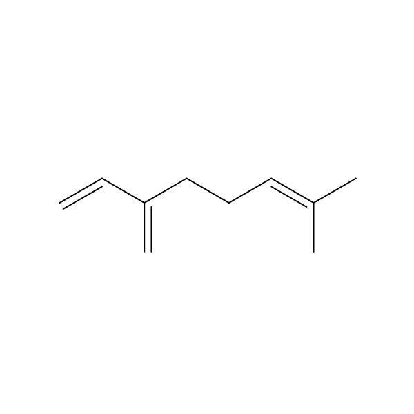 Myrcene Terpene Molecule