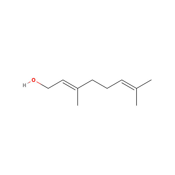 Geraniol Terpene Molecule