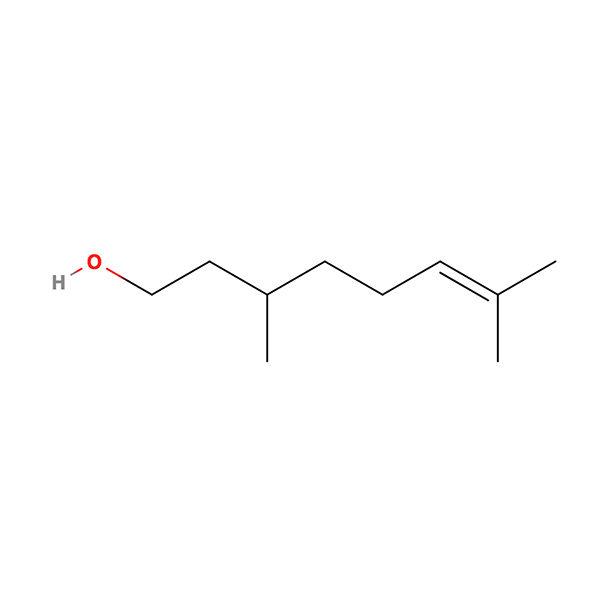 Citronellol Terpene Molecule
