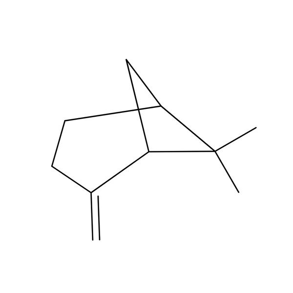 Beta-Pinene Terpene Molecule