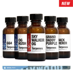 Socal Pack featuring GG4, OG Kush, Skywalker OG, Granddaddy Purple, Jack Herer