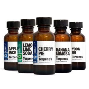 April Pick'em Pack featuring Apple Jack, Banana Mimosa, Cherry Pie, Lemon Lime Soda, Yoda OG