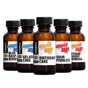 Amped Up Pack Edition 2 featuring Amped Up Sour Pebbles, Amped Up Gelato Cake, Amped Up Birthday Cake, Amped Up Blue Raspberry, Amped Up Strawberry Mimosa